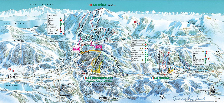Les Rousses Piste Map Trail Map