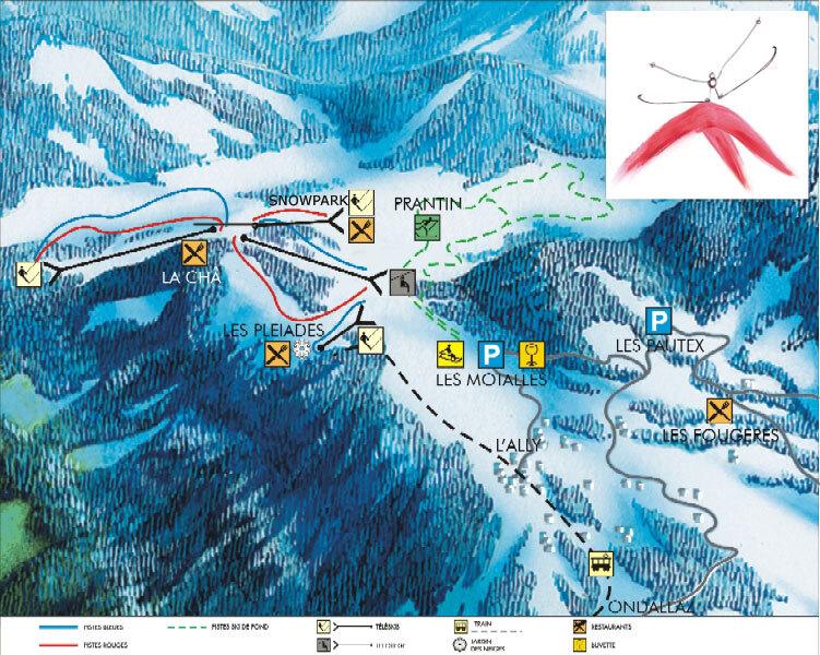 Les Pléiades Piste / Trail Map