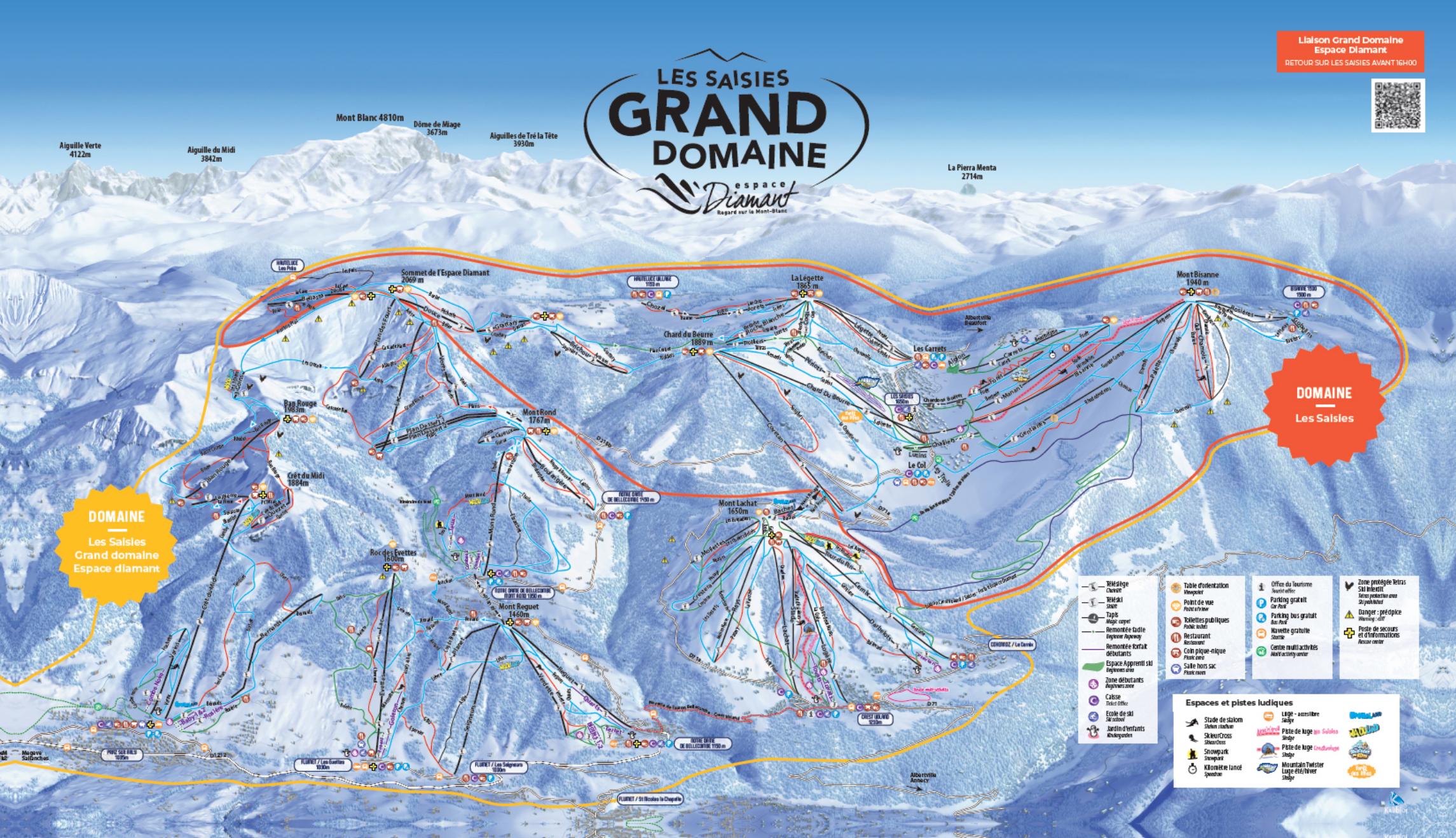 Les Saisies Piste Map Trail Map