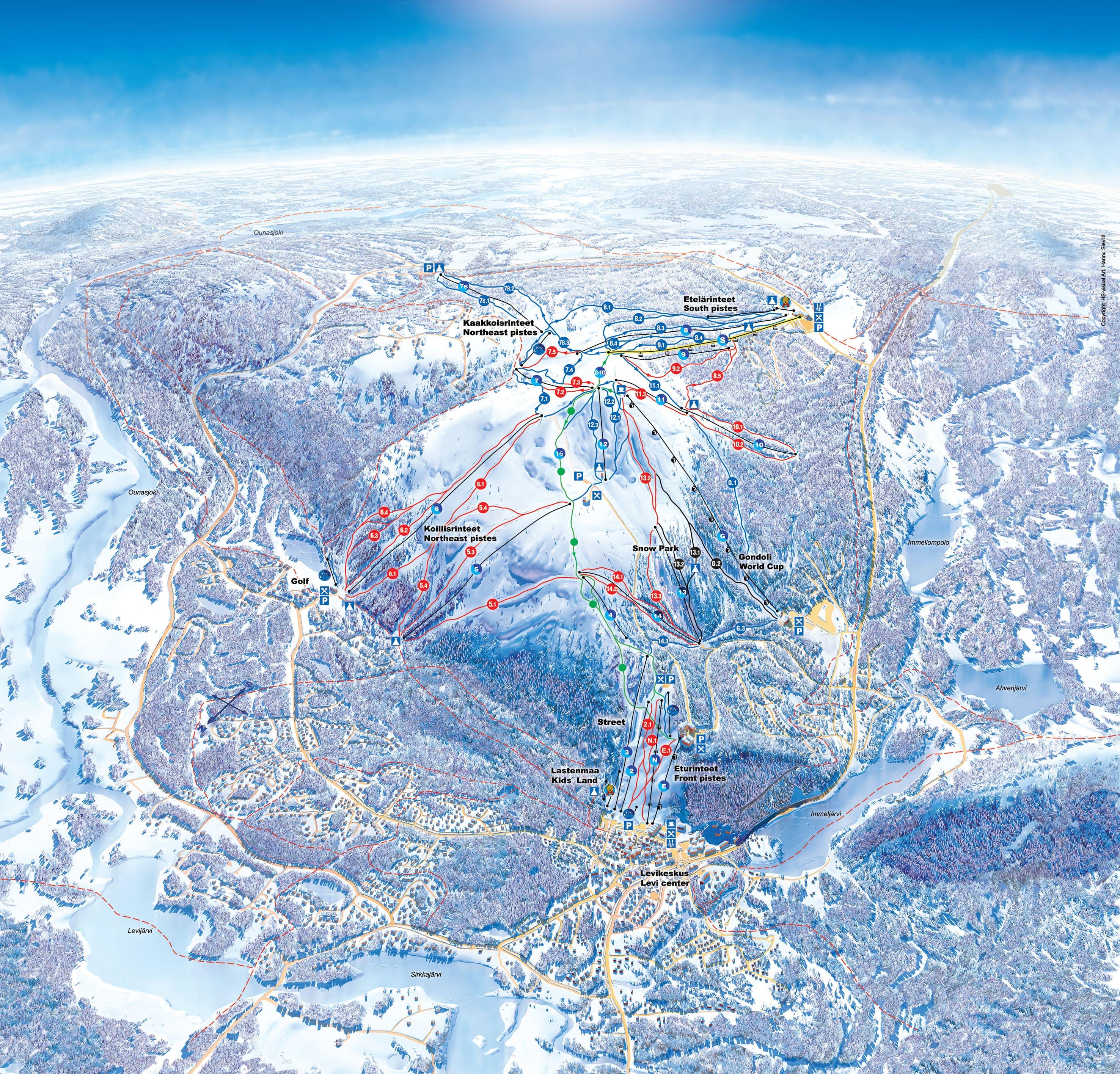Levi Piste / Trail Map