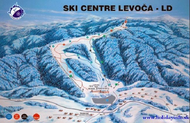 Levoča - Závada Piste / Trail Map