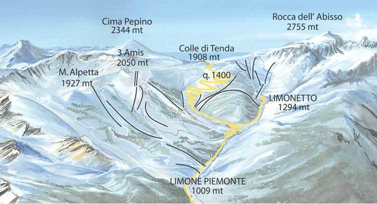 Limone Piemonte Piste / Trail Map