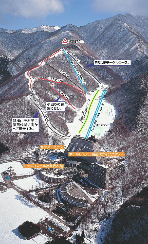 Listel Ski Fantasia Piste / Trail Map