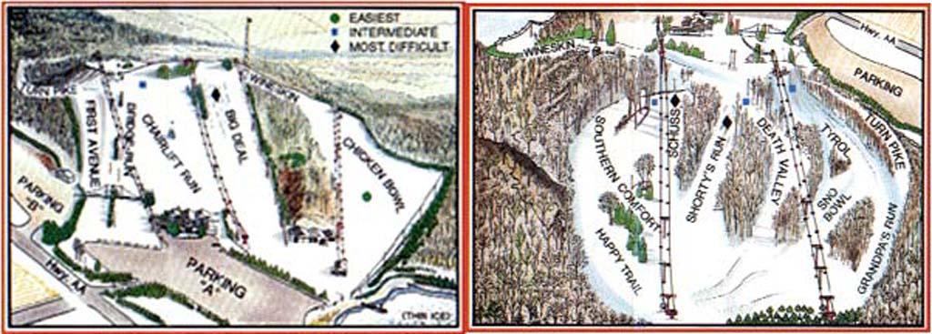 Little Switzerland Piste / Trail Map