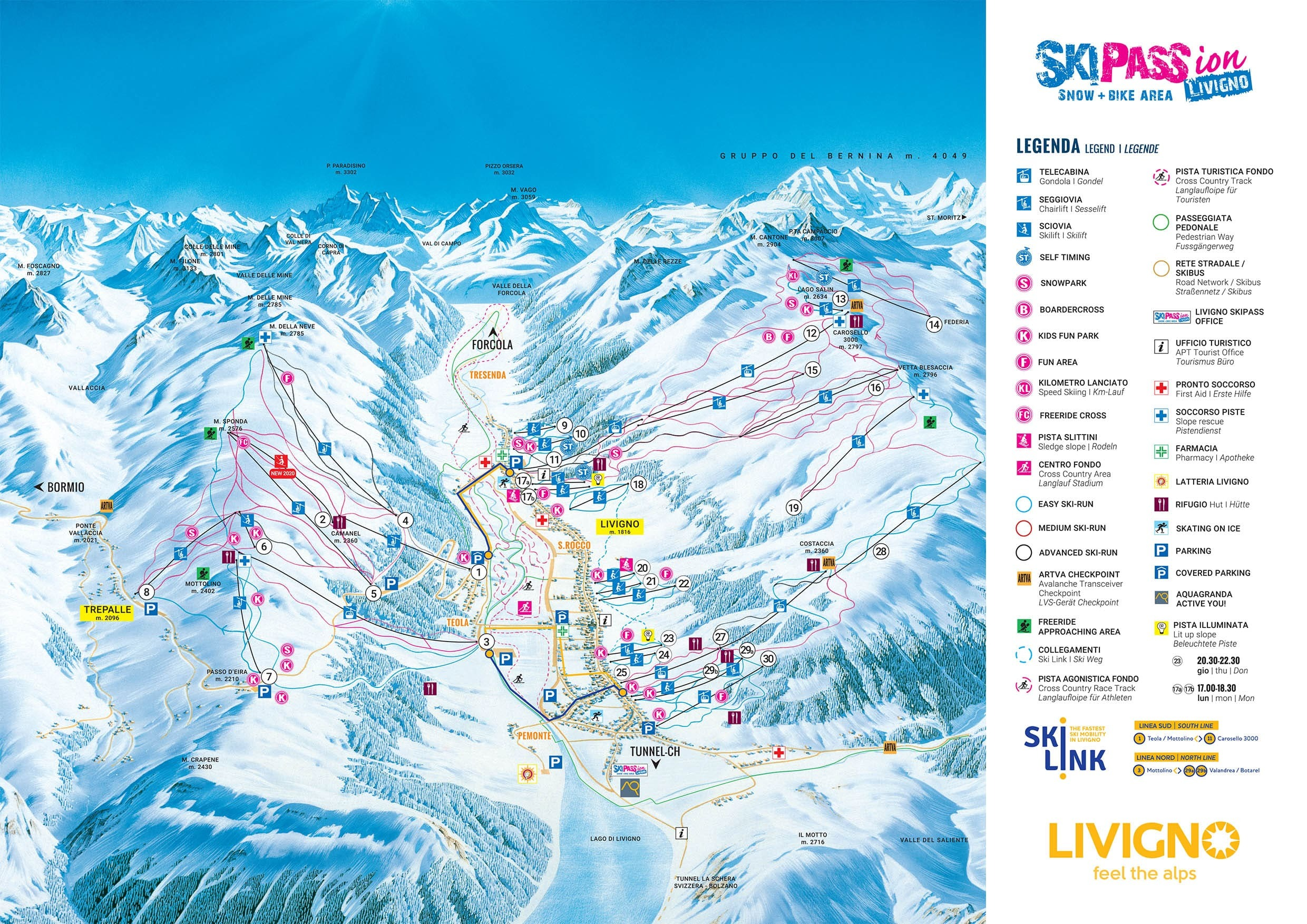 Livigno Piste Map Trail Map