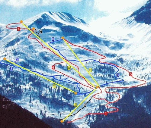 Lizzola Valbondione Piste / Trail Map