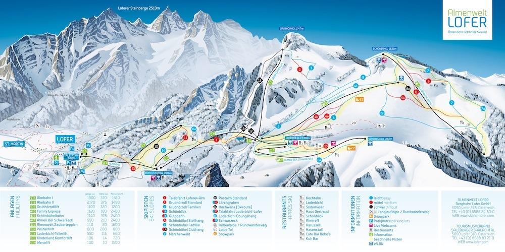 Lofer Piste / Trail Map