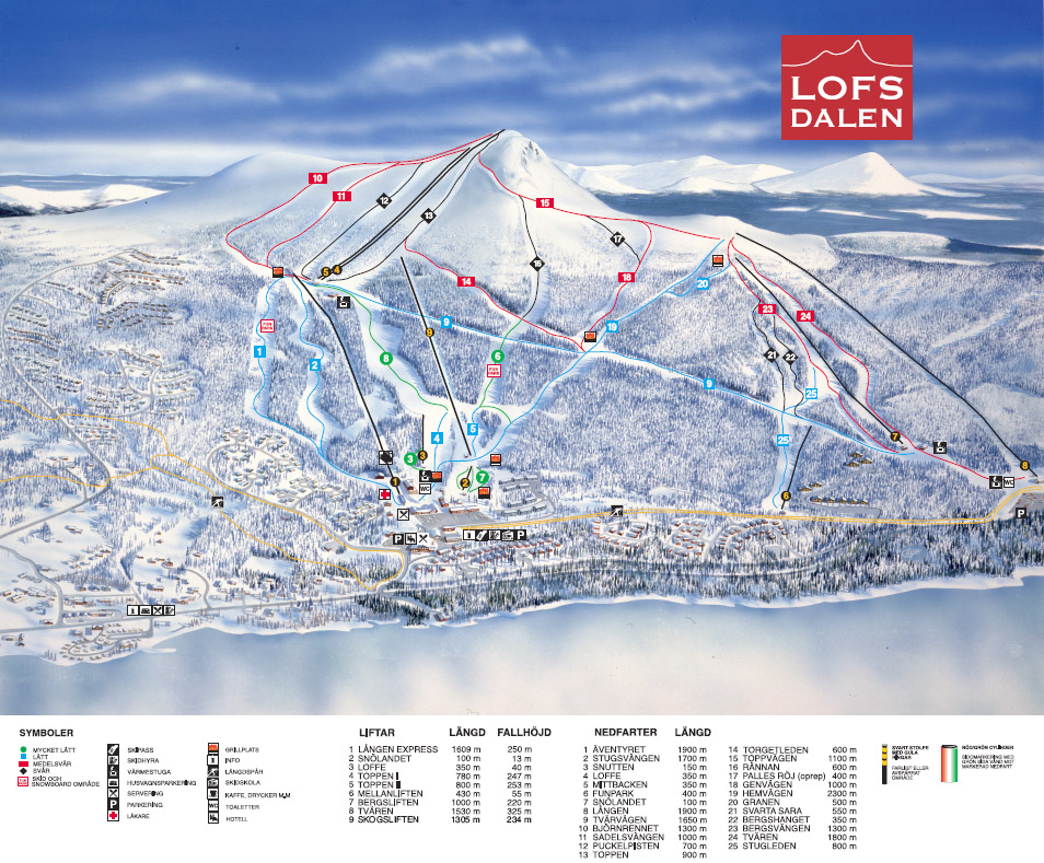 Lofsdalen Piste / Trail Map