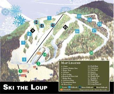 Loup Loup Piste / Trail Map