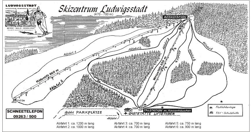 Ludwigsstadt/Skizentrum Piste / Trail Map