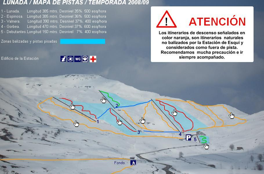 Lunada Piste / Trail Map