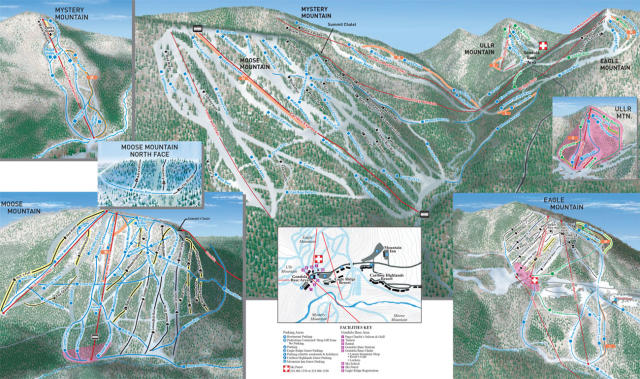 Lutsen Mountains Piste / Trail Map