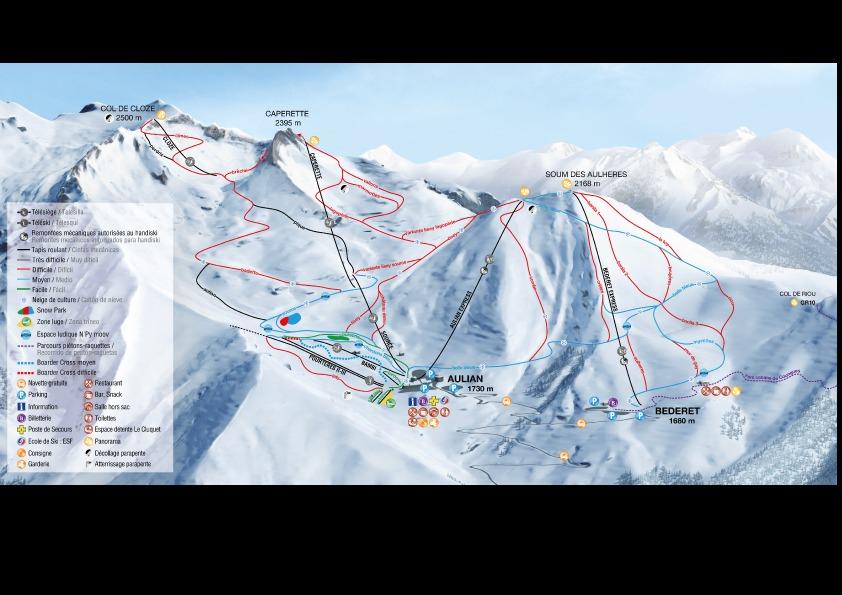 Luz Ardiden Piste / Trail Map
