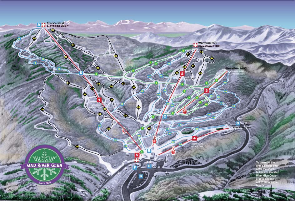 Mad River Glen Piste / Trail Map
