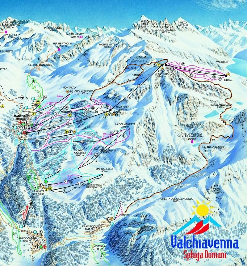 Madesimo Piste Map Trail Map