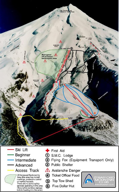 Manganui Piste / Trail Map