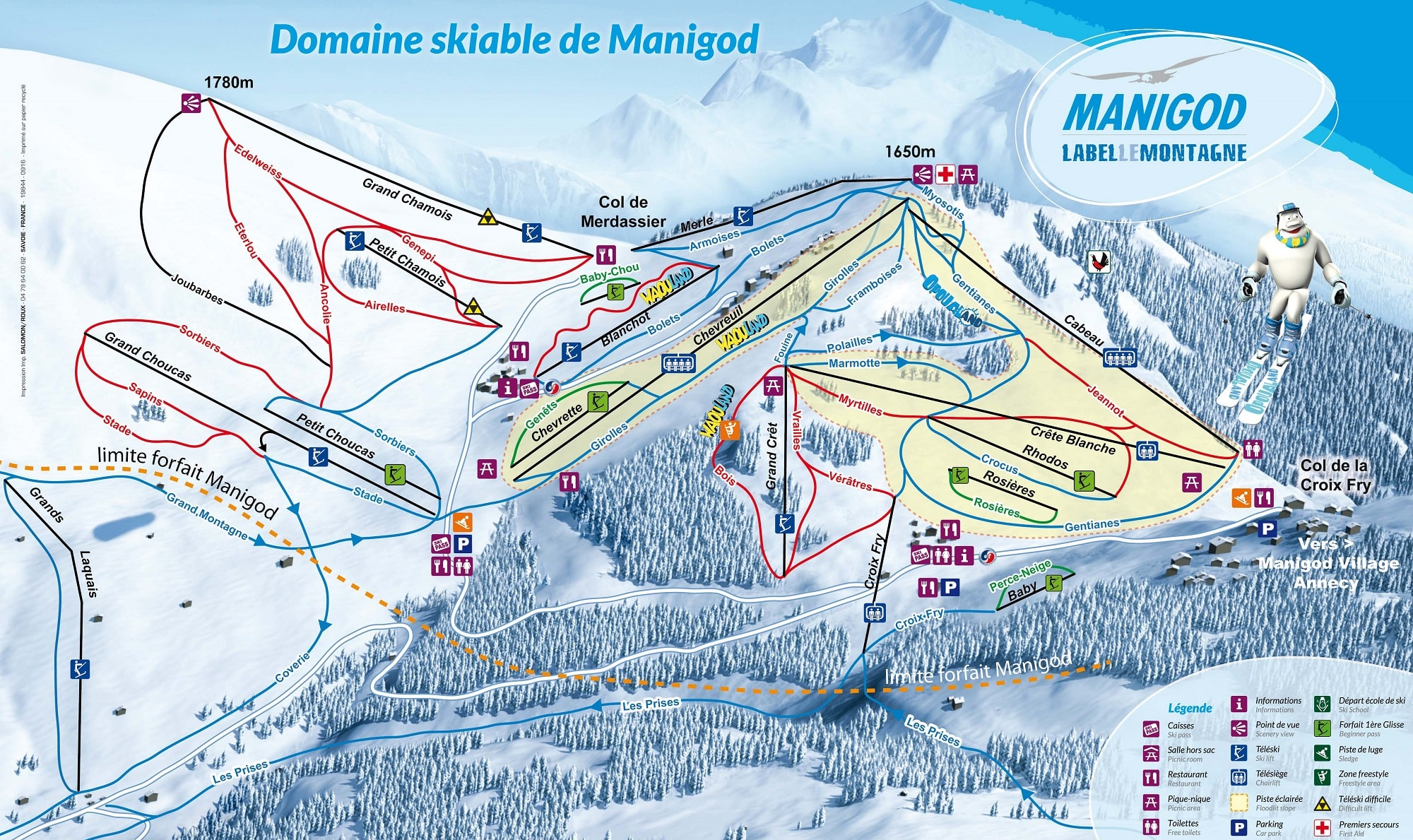 Manigod Piste / Trail Map