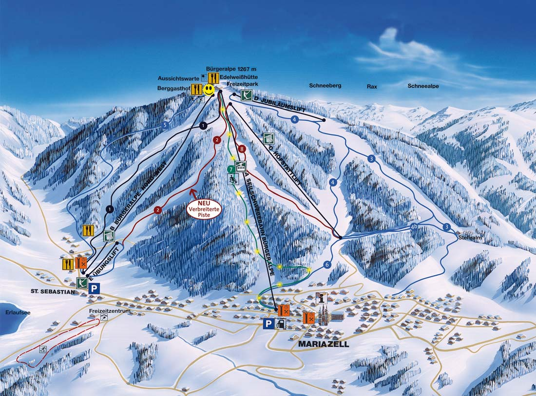 Mariazeller Land Piste / Trail Map