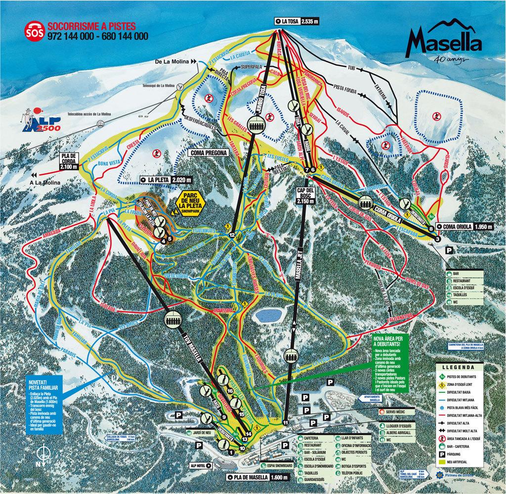 Masella Piste / Trail Map