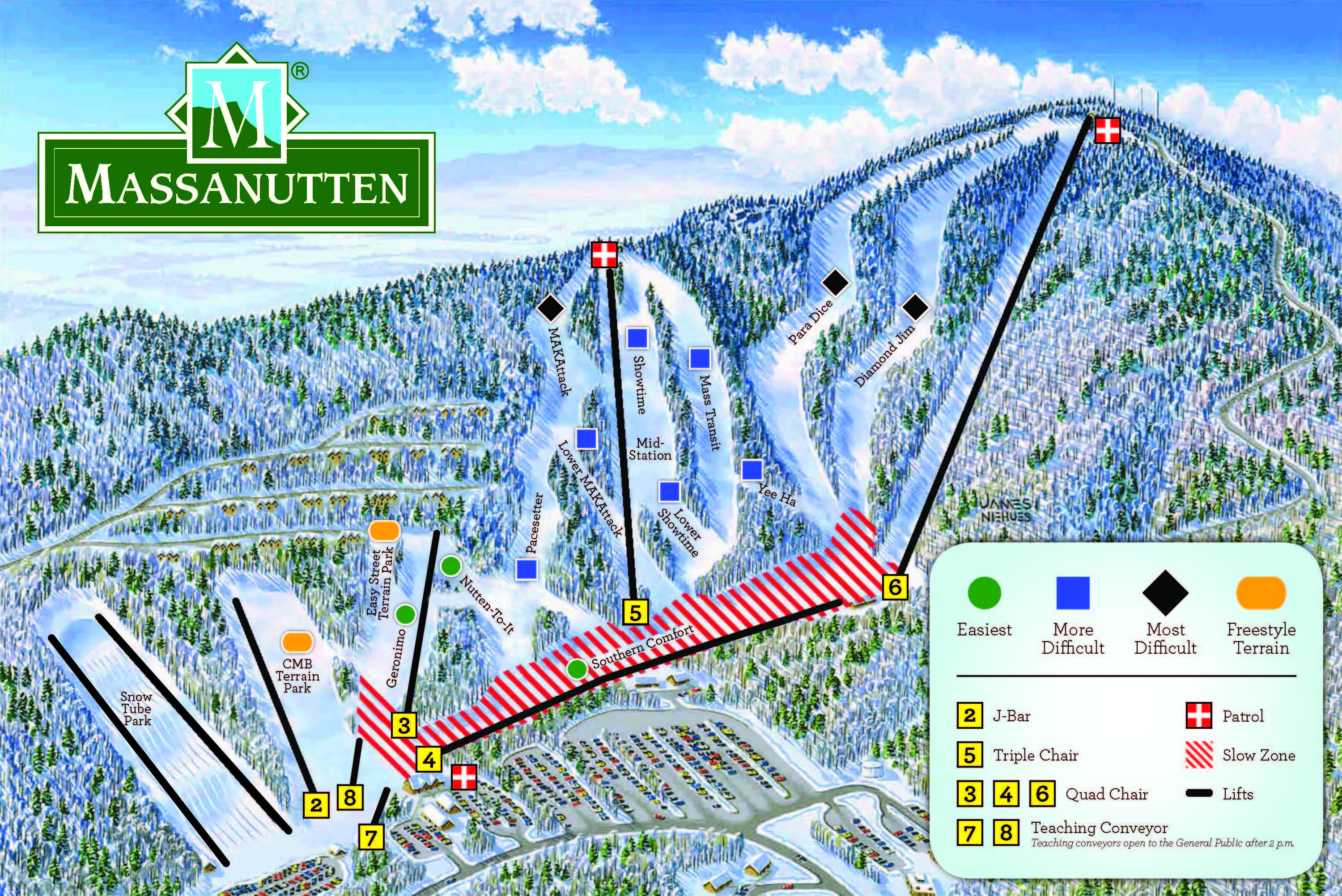 Massanutten Piste / Trail Map