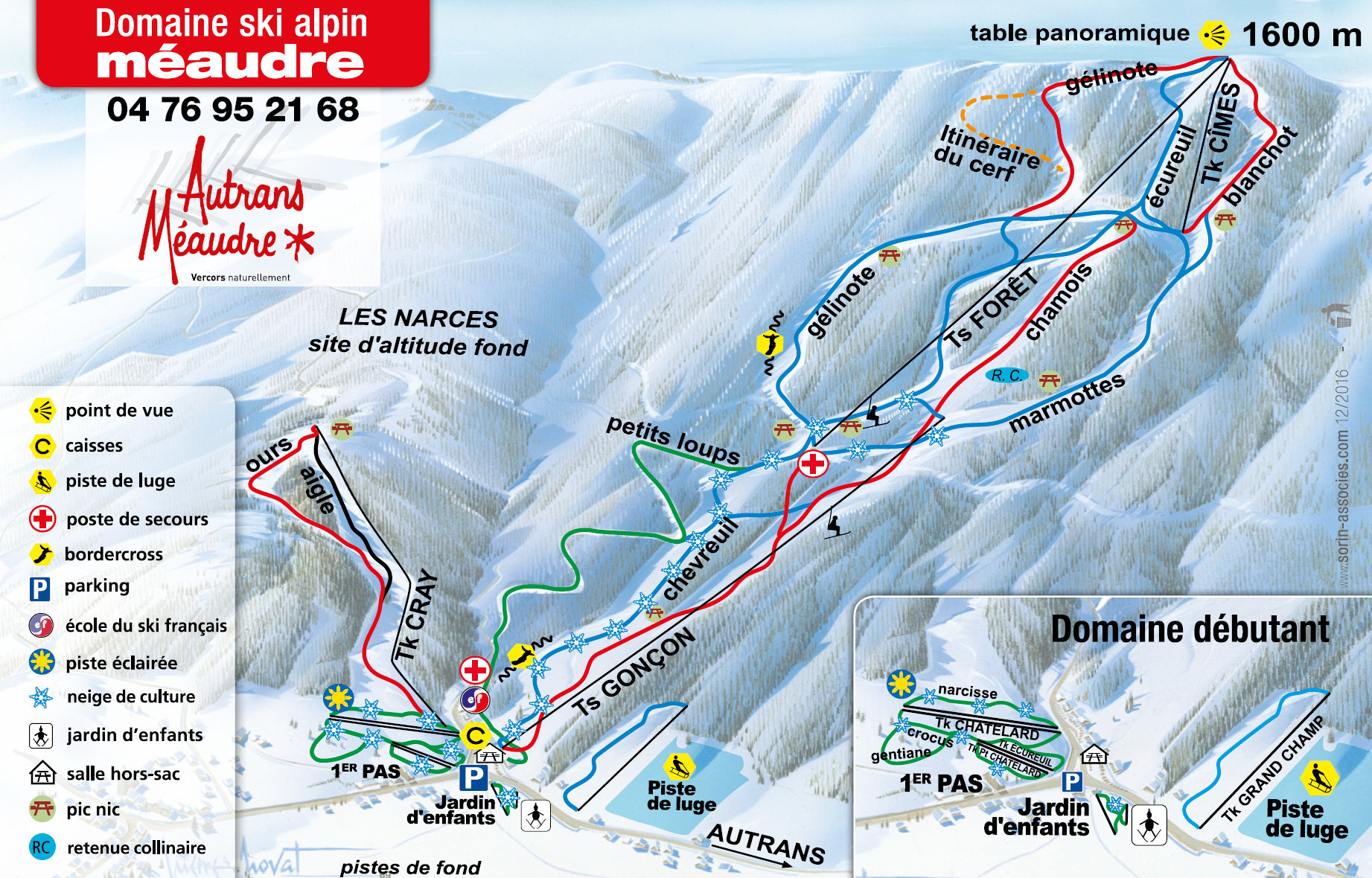 Méaudre Piste / Trail Map