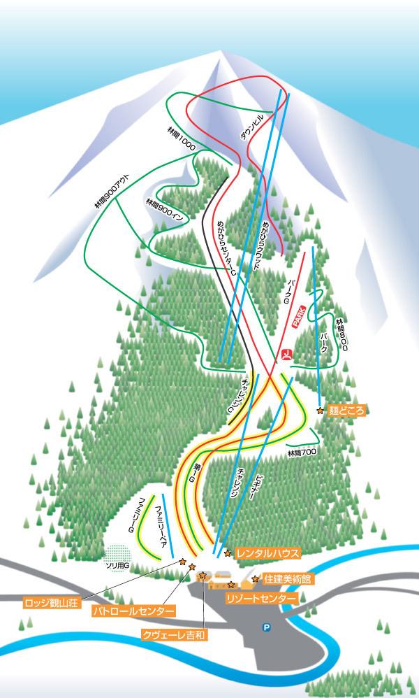 Megahira Onsen Megahira Piste / Trail Map