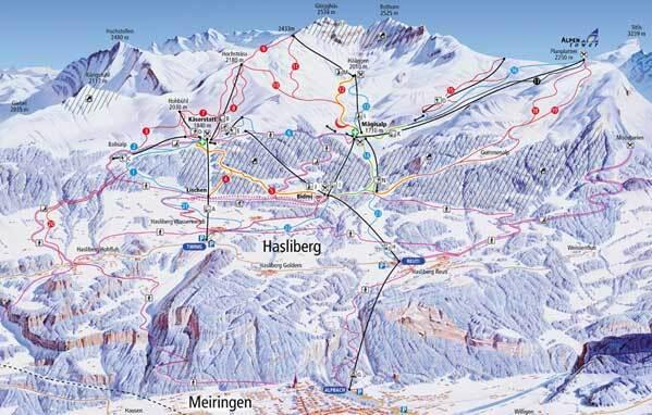 Meiringen-Hasliberg Piste / Trail Map
