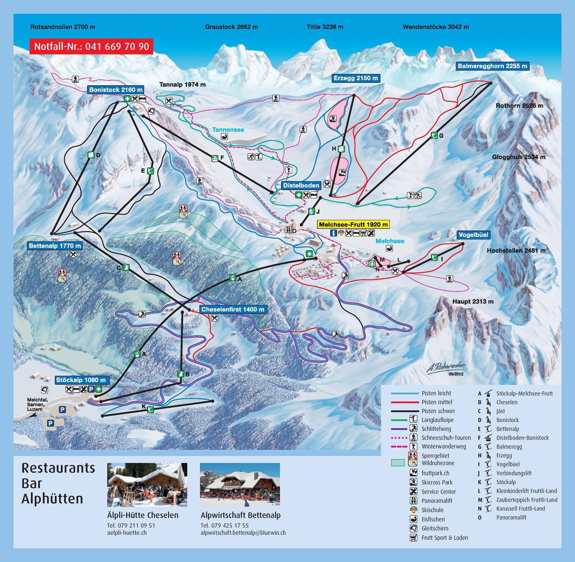 Melchsee-Frutt Piste / Trail Map