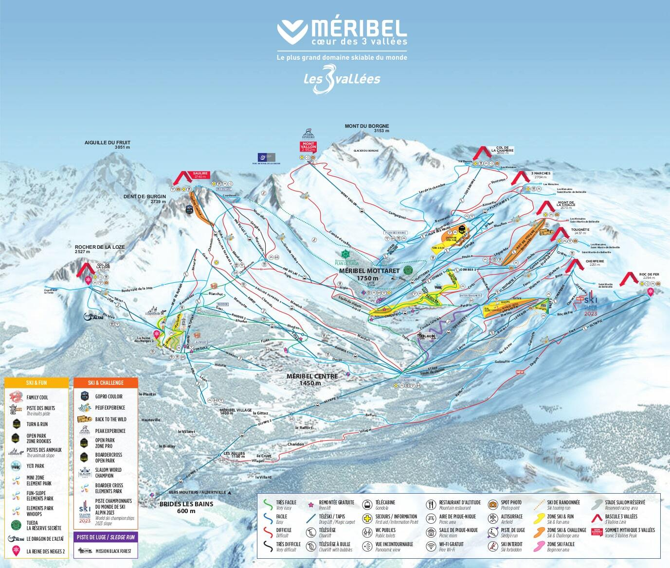 Mribel Ski Resort Guide Location Map Mribel ski holiday