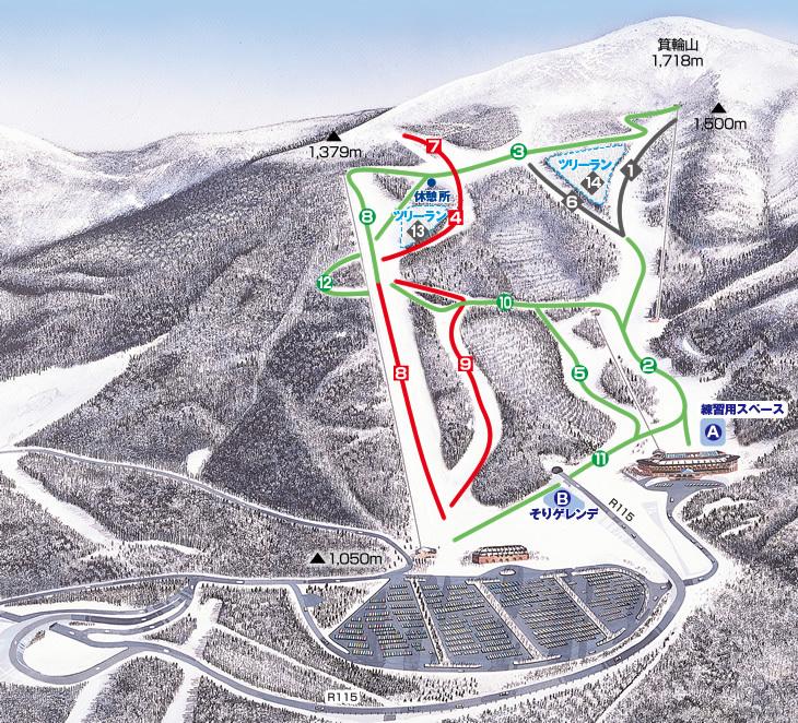Minowa Piste / Trail Map