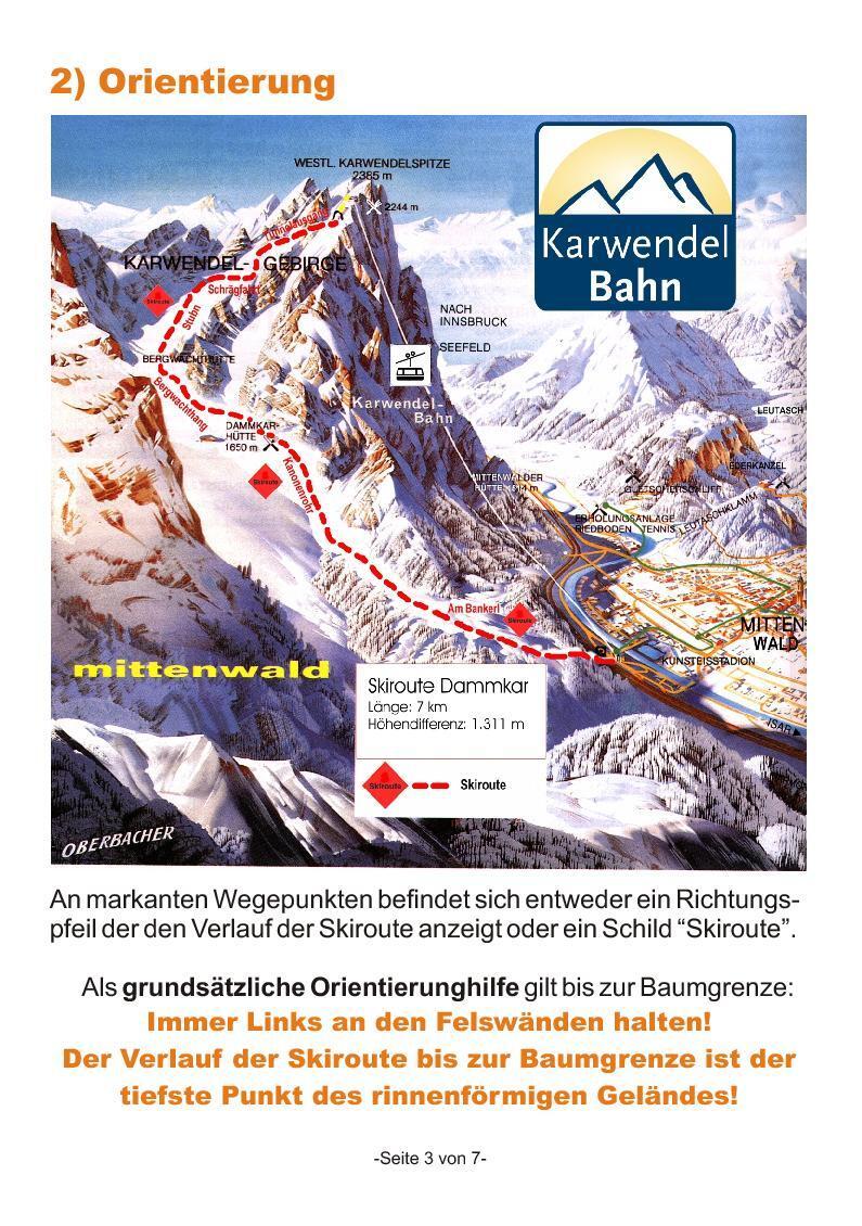 Mittenwald/Dammkar Piste / Trail Map