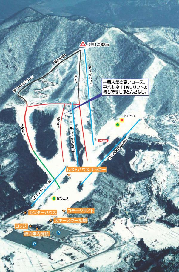 Miyagi Zao Shichigasyuku Piste / Trail Map