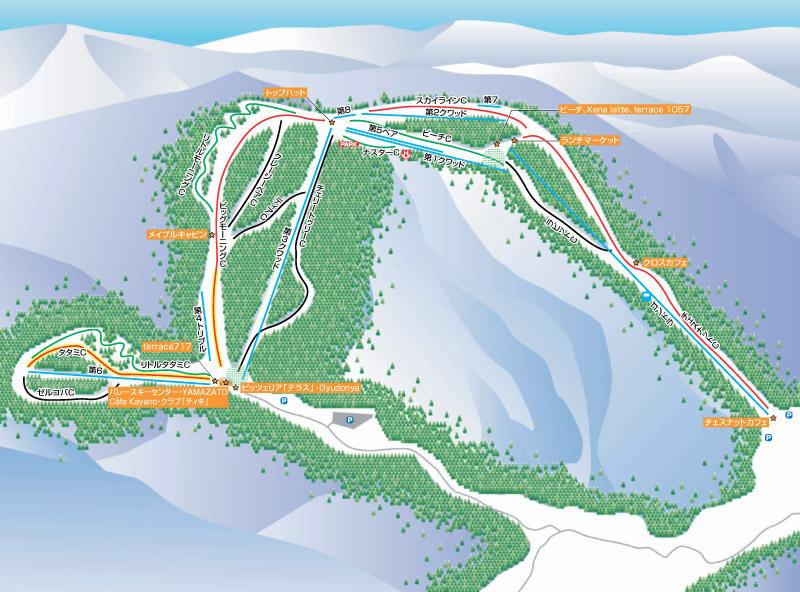 Mizuho Highland Piste / Trail Map