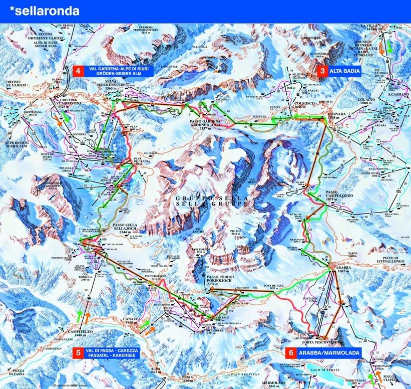 Moena Piste / Trail Map