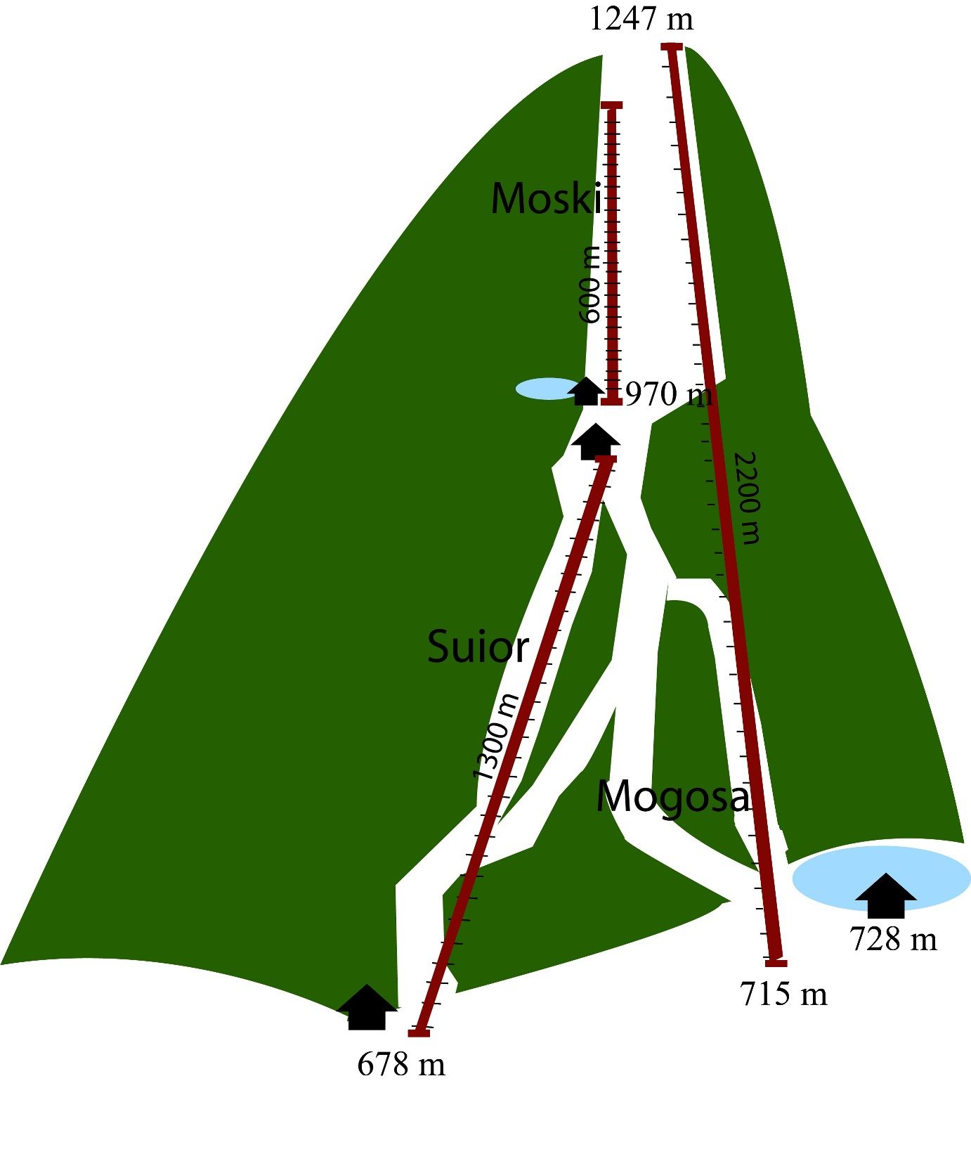 Mogoşa Piste / Trail Map
