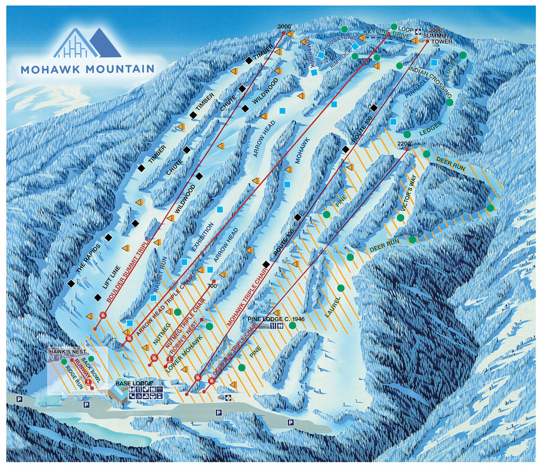 Mohawk Mountain Piste / Trail Map