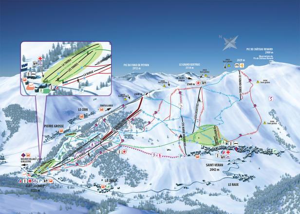 Molines en Queyras Piste / Trail Map