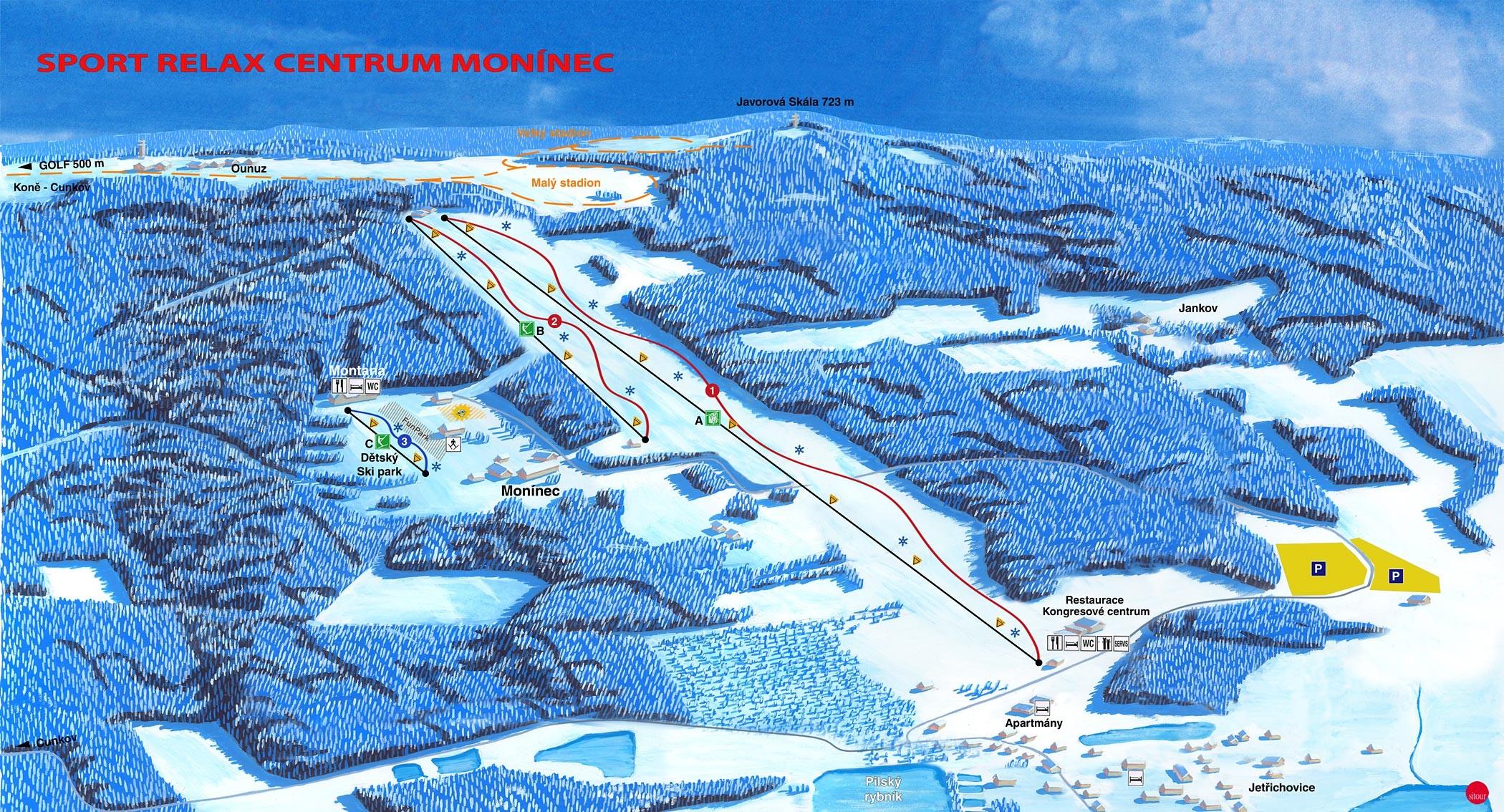 Monínec Piste / Trail Map