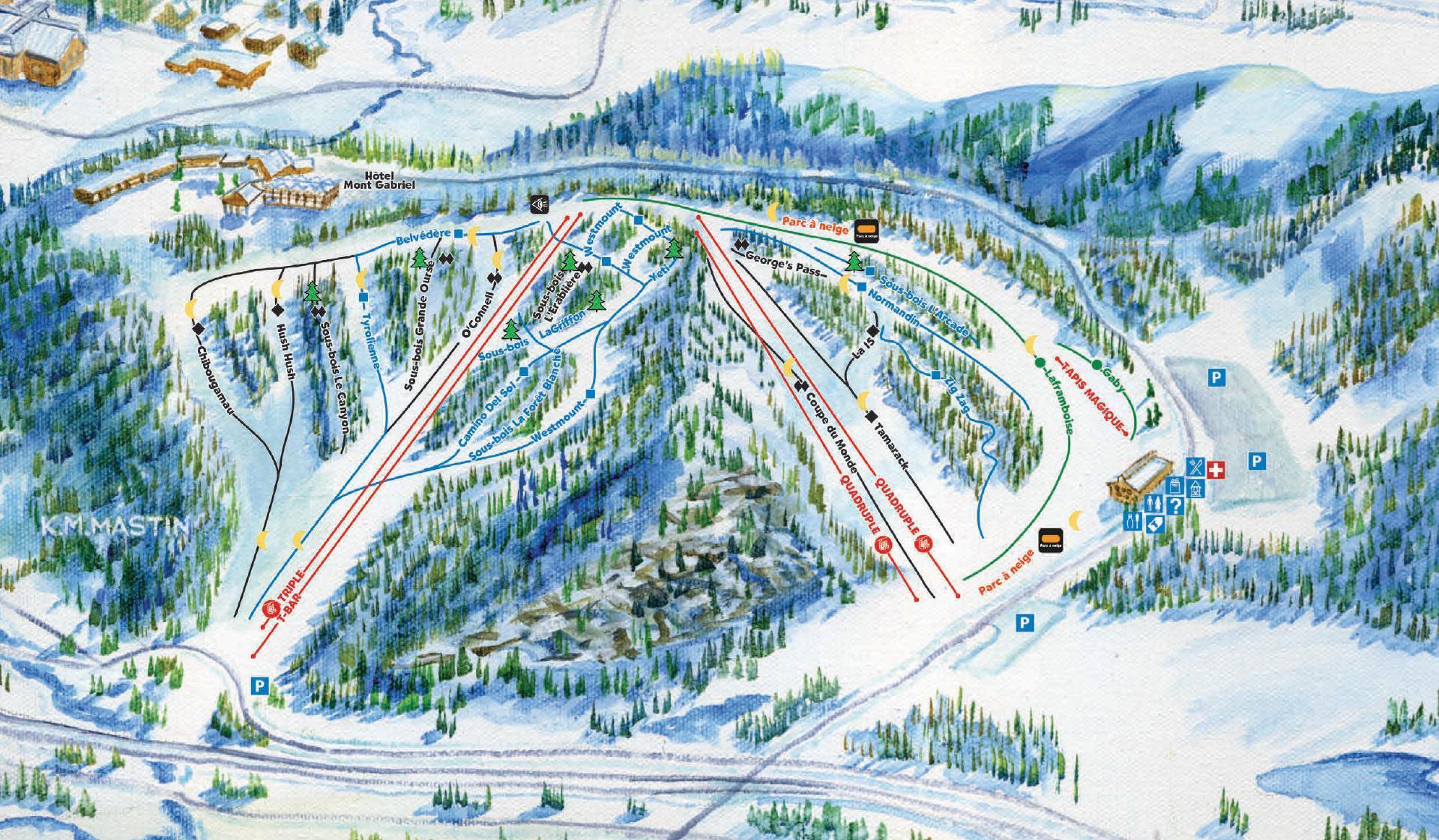 Mont Gabriel Piste / Trail Map