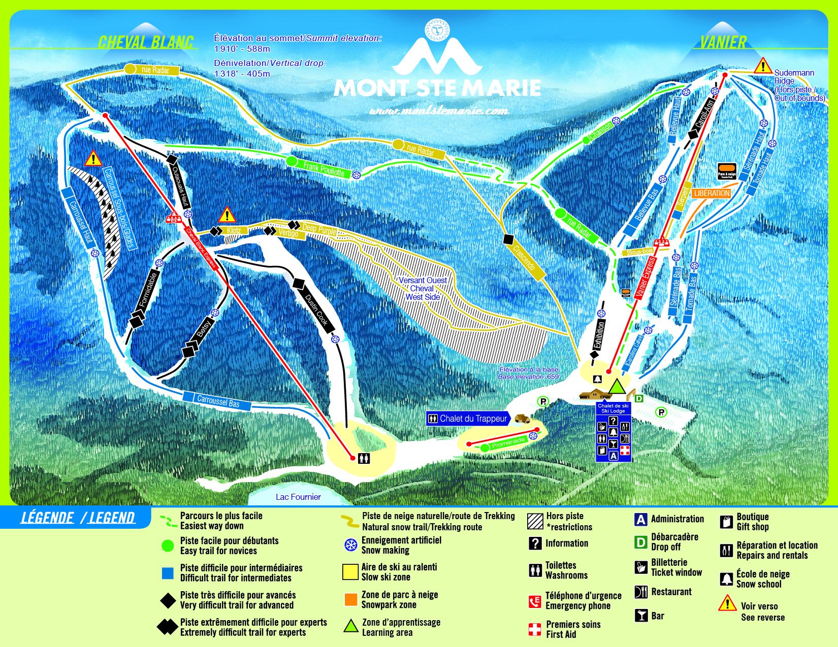 Mont Ste Marie Piste / Trail Map