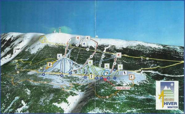 Mont Ventoux Piste / Trail Map