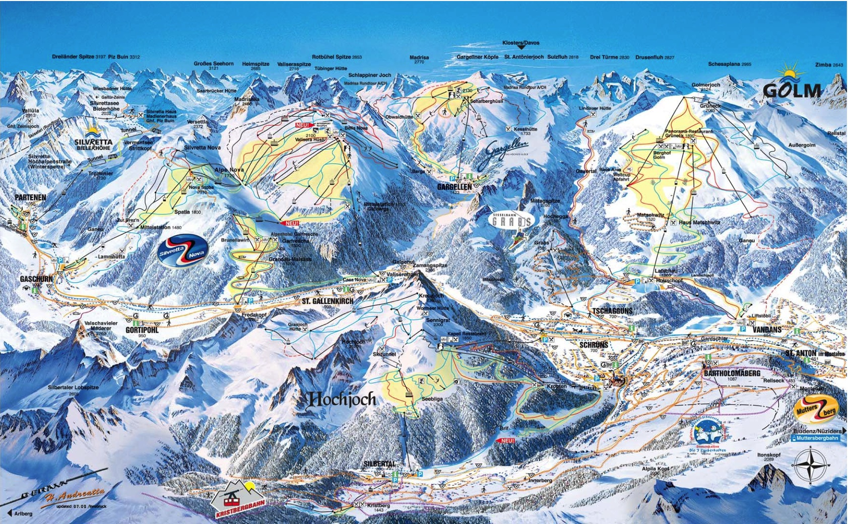 Montafon Piste / Trail Map