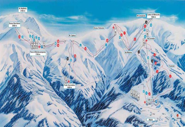 Montecampione Piste Map Trail Map