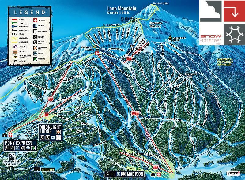 Moonlight Basin Piste / Trail Map
