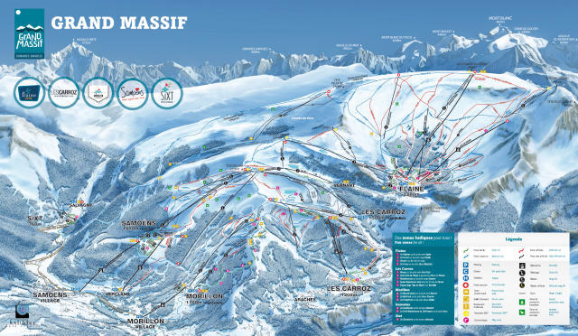 Morillon Piste / Trail Map