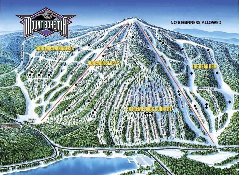 Mount Bohemia Piste / Trail Map