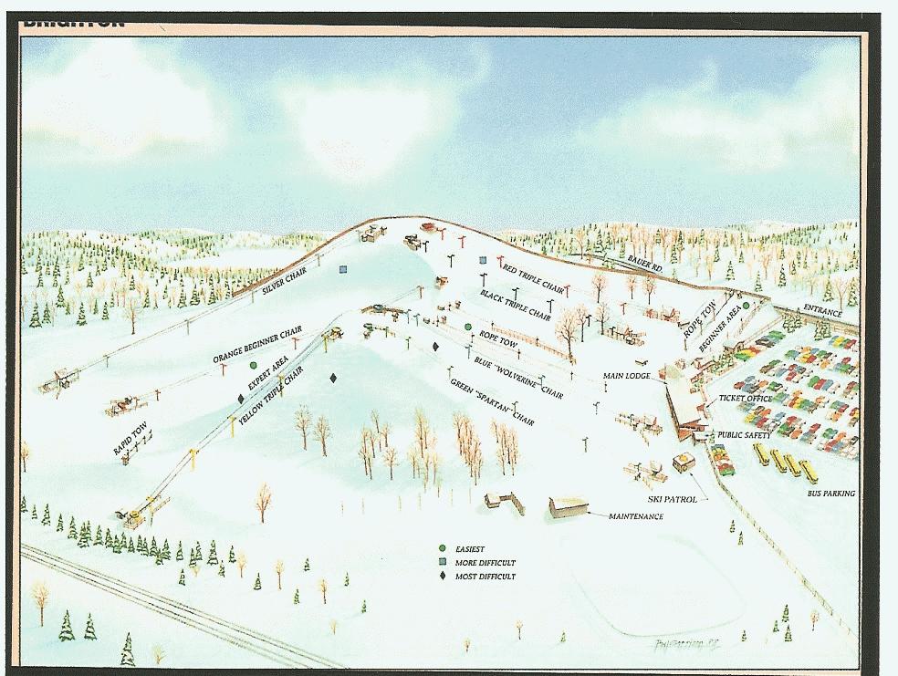 Mount Brighton Piste / Trail Map