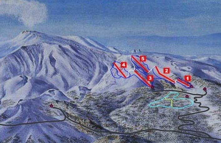 Mount Etna Linguaglossa Piste / Trail Map