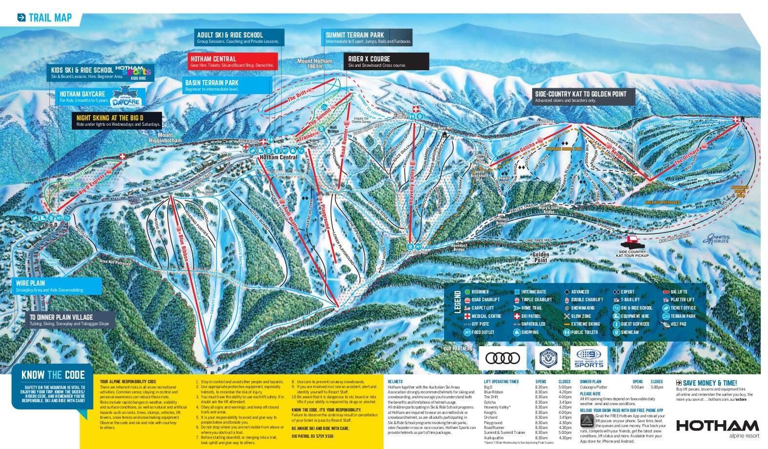Mount Hotham Piste / Trail Map