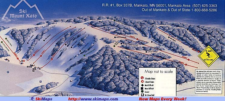 Mount Kato Ski Area Piste / Trail Map